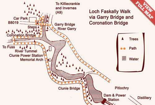 Pitlochry Scotland Map.Local Walks Pitlochry